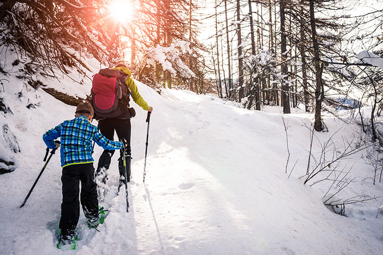 Ook voor kinderen is een sneeuwschoenlopen een super beleving.