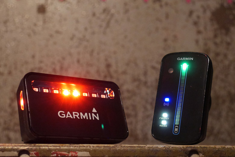 De Garmin Varia Bike Radar bluetooth connectie werkt prima.