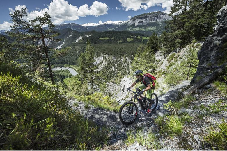 De omgeving van het Zwitserse Flims is een ideaal testgebied.