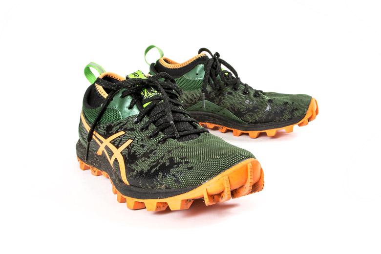 Een trailrunningschoen met een grof profiel: echt voor modder.