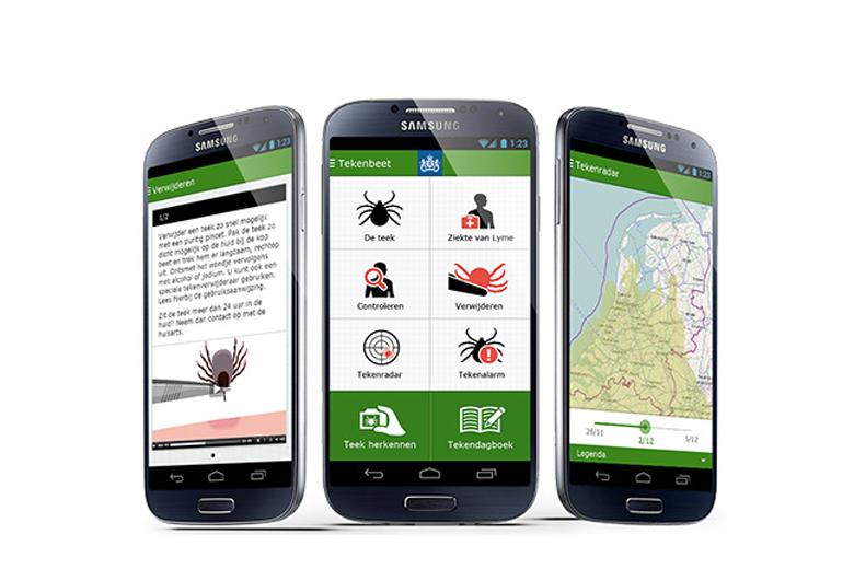 Tekenradar.nl en de app geven een redelijk precies beeld van wanneer teken actief zijn.