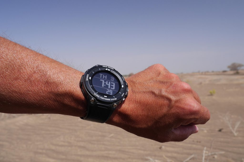 De Casio Pro Trek WSD-F20 is een imposant horloge.