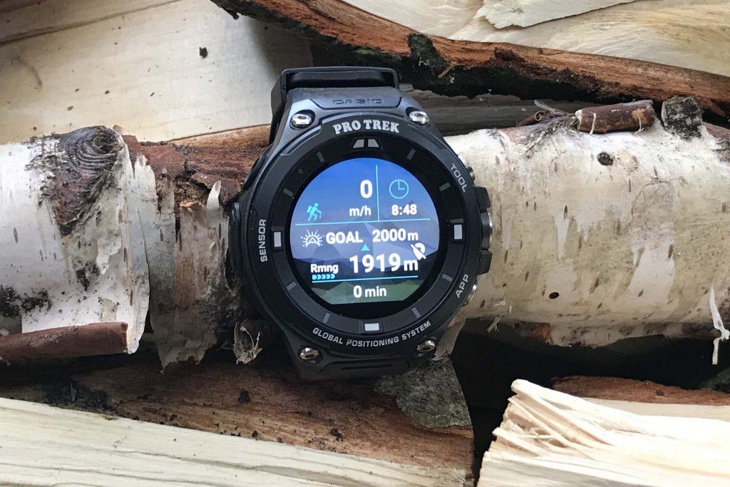 In de hiking functie kan je zelf een doel definiëren; bijvoorbeeld 2000 meter stijgen.