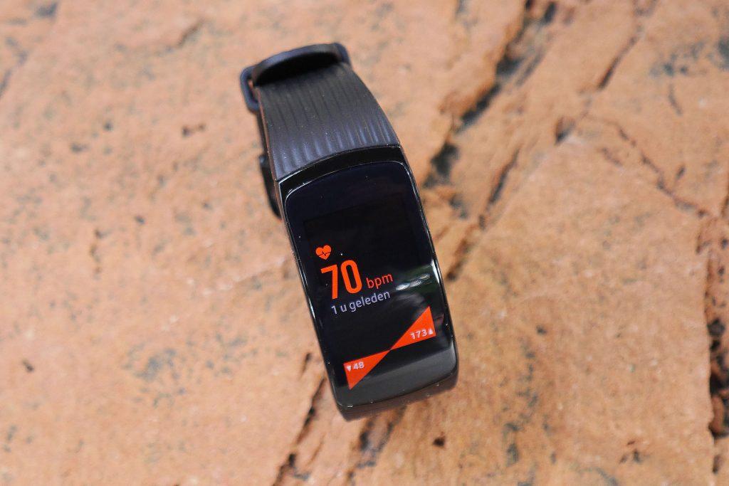 De hartslagmeting van de Samsung Gear Fit 2 Pro is nauwkeurig.