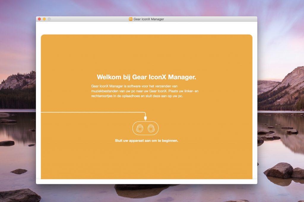 Met de Samsung Manager kan je vanaf de PC muziek naar de Samsung Gear IconX overzetten.