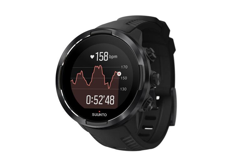 Bij een sport outdoor smartwatch zoals de Suunto 9 Baro hoort natuurlijk hartslagmeting.