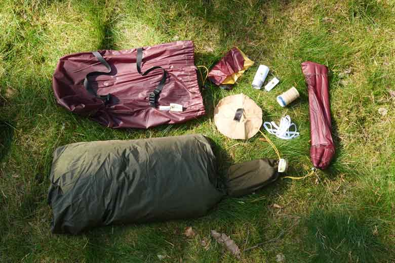 The Tentipi Olivin 2 Combi weighs in total 3481 grams.