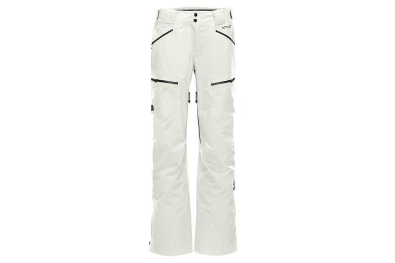 De Purist Pant van The North Face Steep Series heef veel zakken en kan over skischoenen gedragen worden.