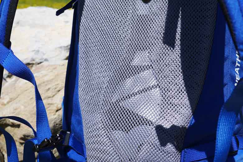 The Bach Shield Pro carrying system of the Packster 32 has a mesh back.