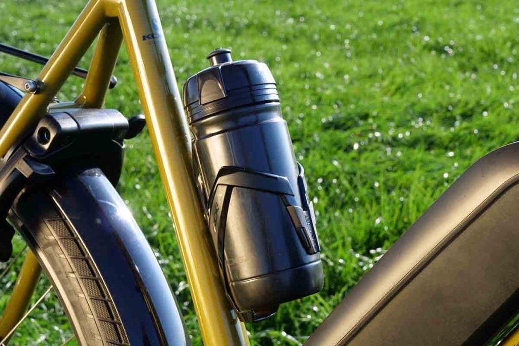 The Koga has three positions for bottle holders.