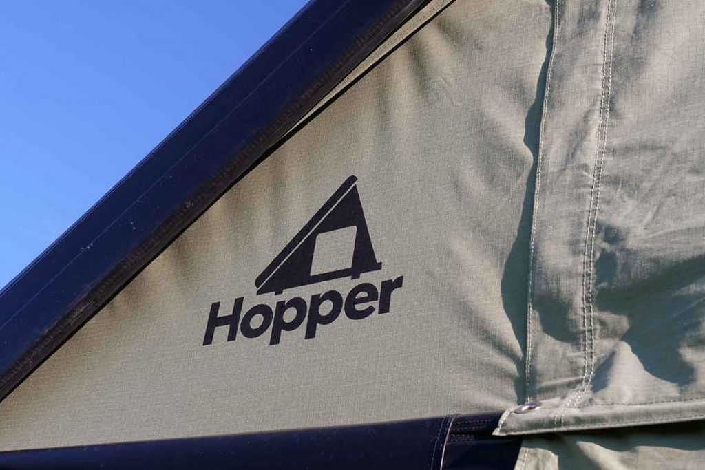 The Hopper tent is made of a polyester-cotton mix.
