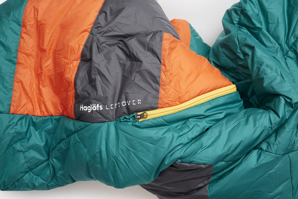 The Haglöfs Leftover Sleeping Bag is made from scraps of high-performance material.