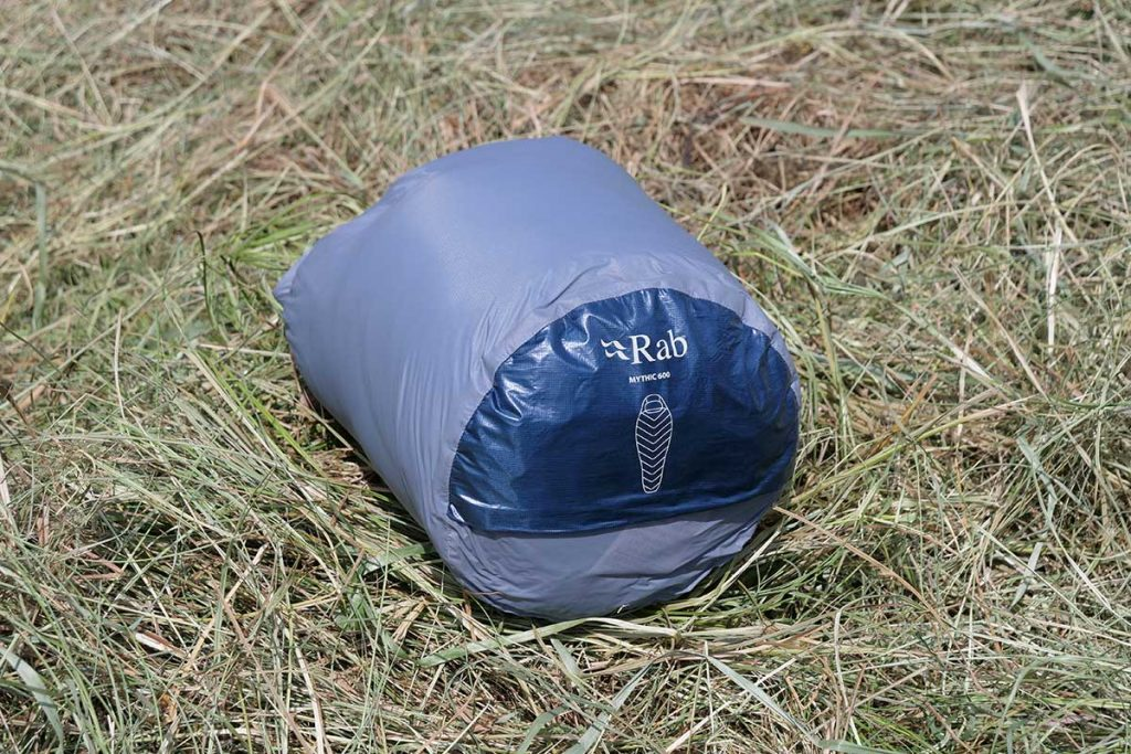 The Rab Mythic 600 comes with a good waterproof stuff bag.