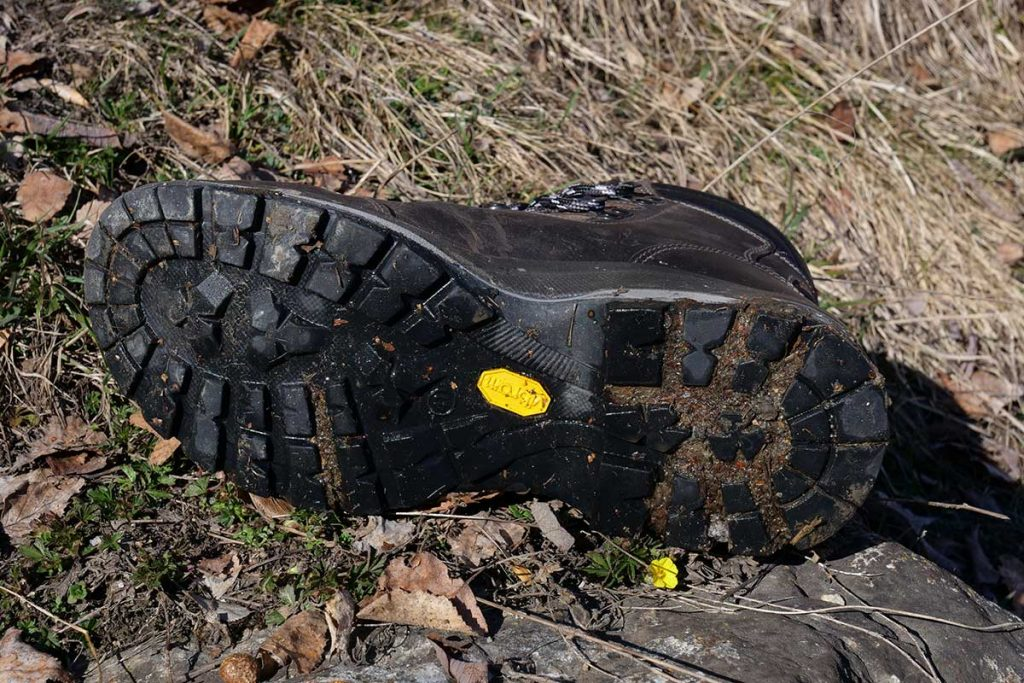 The outsole of the Grisport Anden is a bit slippery downhill because...