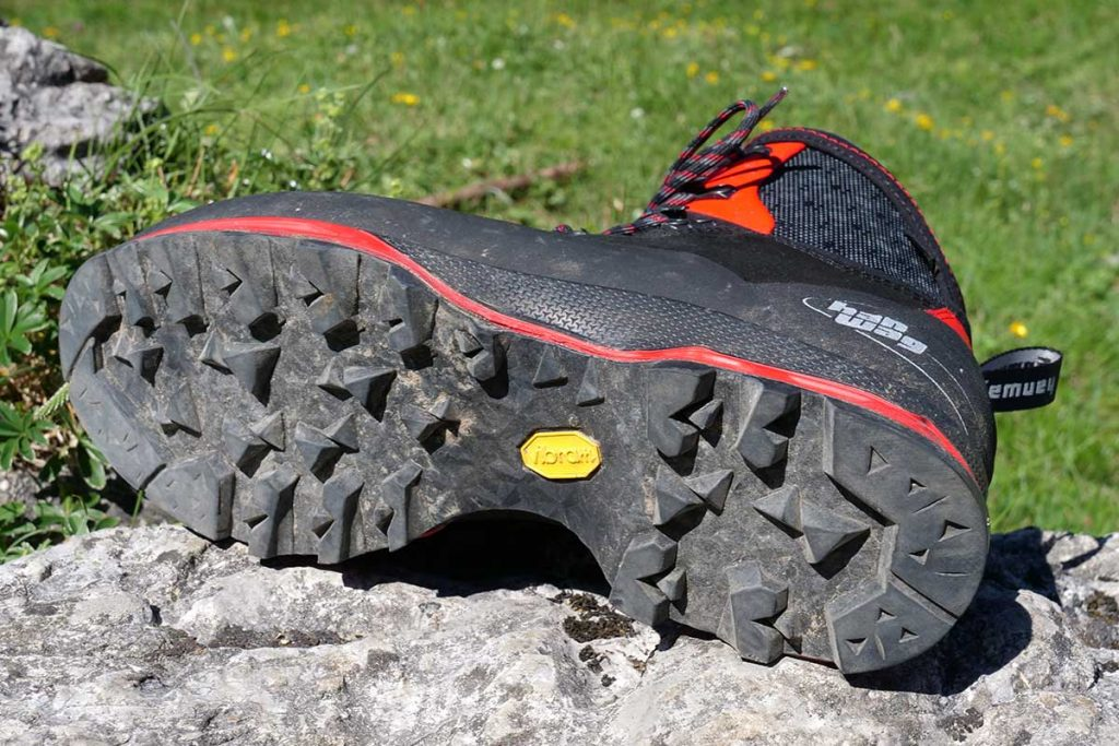 The Vibram Integral Light sole is very grippy.