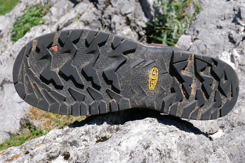 The Keen outsole offers good grip on dry and wet surfaces.