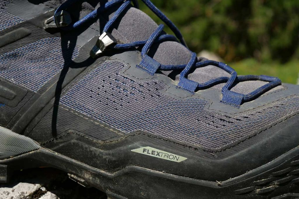 The knitted outside on the Mammut Ducan High GTX seems to help with the breathability of the Gore-Tex.
