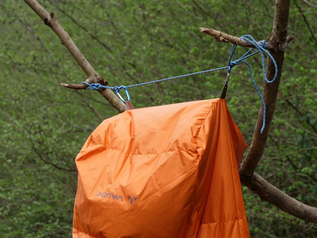 Two loops are provided: useful if you need to air the sleeping bag.