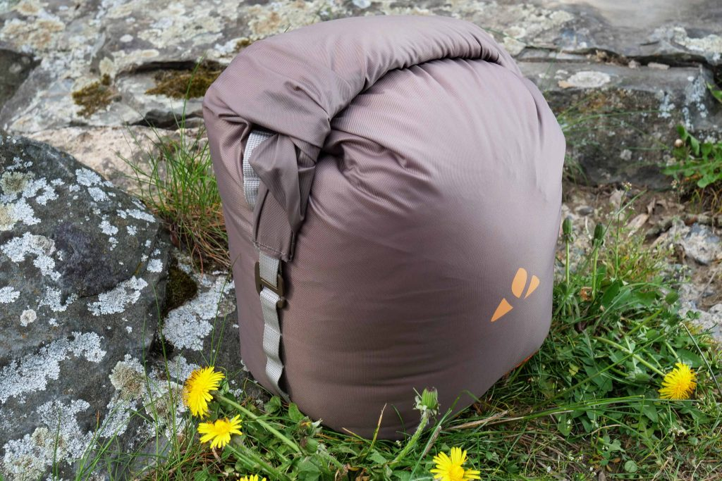 The compression bag of the Vaude Marwees 500 DWN is of good quality.