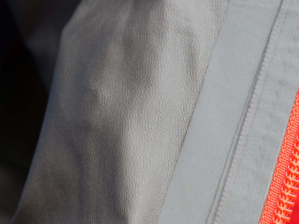 The Gore-Tex Paclite Plus liner feels comfortable on bare skin.