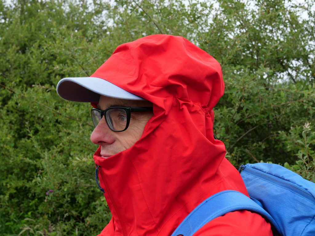 The Calcite Jacket has an excellent hood that works well with a cap too.
