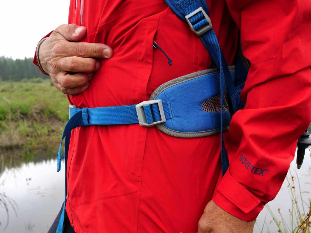 Downside of the Patagonia Calcite Jacket design is that the pockets are positioned behind the hip belt and...