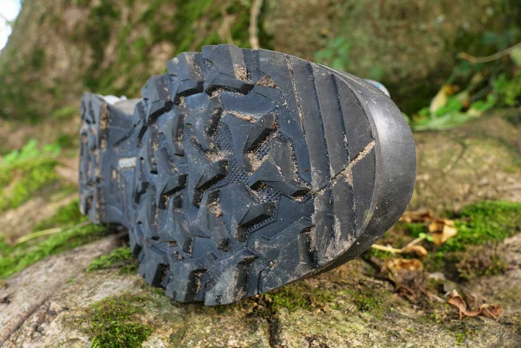 The Lowa Elika has a nice grippy profile under the toe.