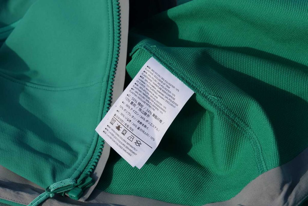 The jacket can be washed on 40 ° C.