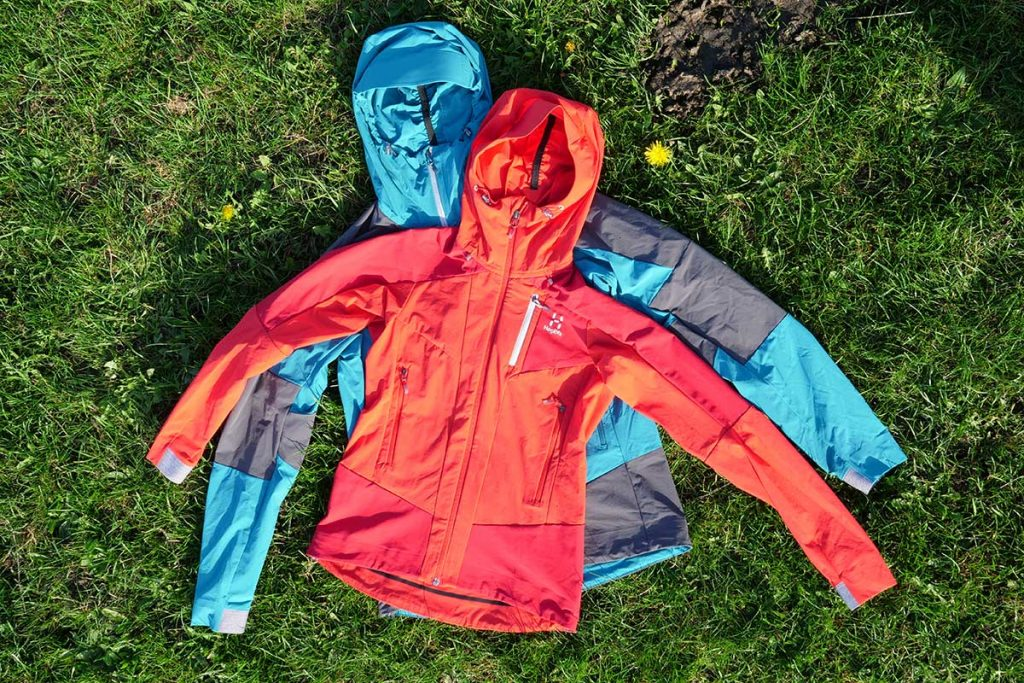 The Haglöfs Skarn Hybrid Jacket is for men (bottom) and women (top).