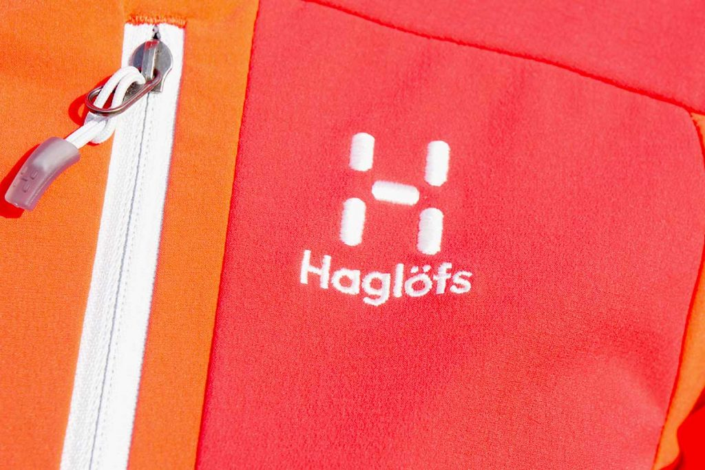 Haglöfs does not use recycled materials in the Skarn Hybrid Jacket.