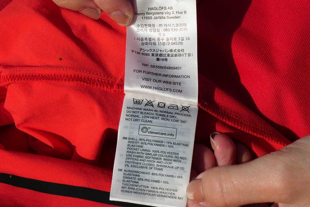 Wash the Skarn Hybrid Jacket at 40 °C on a normal program.