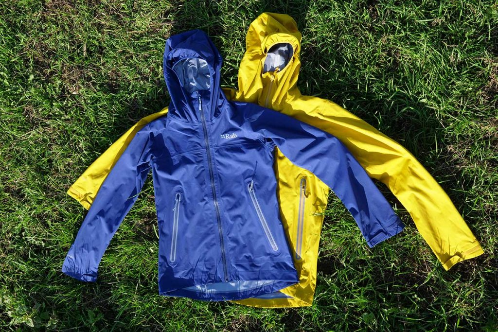 The Rab Kinetic Plus Jacket in male and female version.