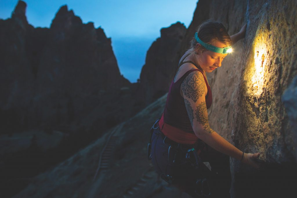The BioLite Headlamp 330 headband is soft on the inside and wears comfortable.