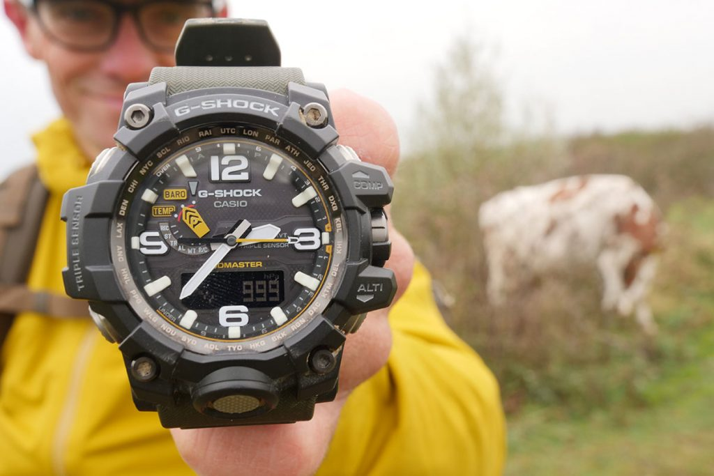 The G-Shock Mudmaster GWG 1000 1A3ER is a gigantic outdoor watch.