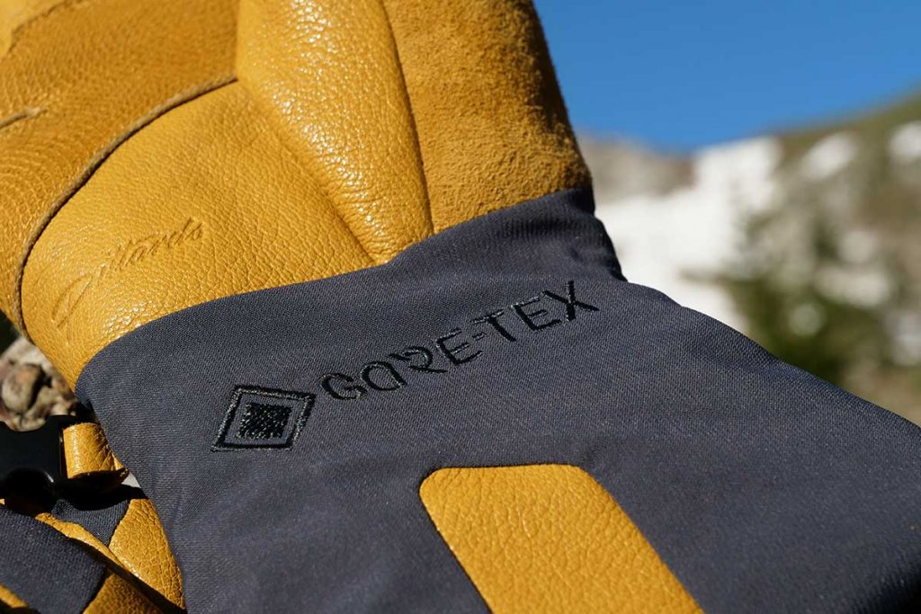 Rab uses a Gore-Tex membrane to make the gloves waterproof and breathable.