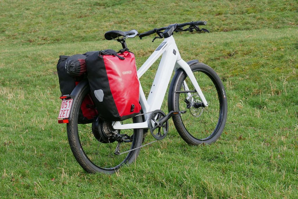The Stromer ST3 has a nice carrier for travelling.