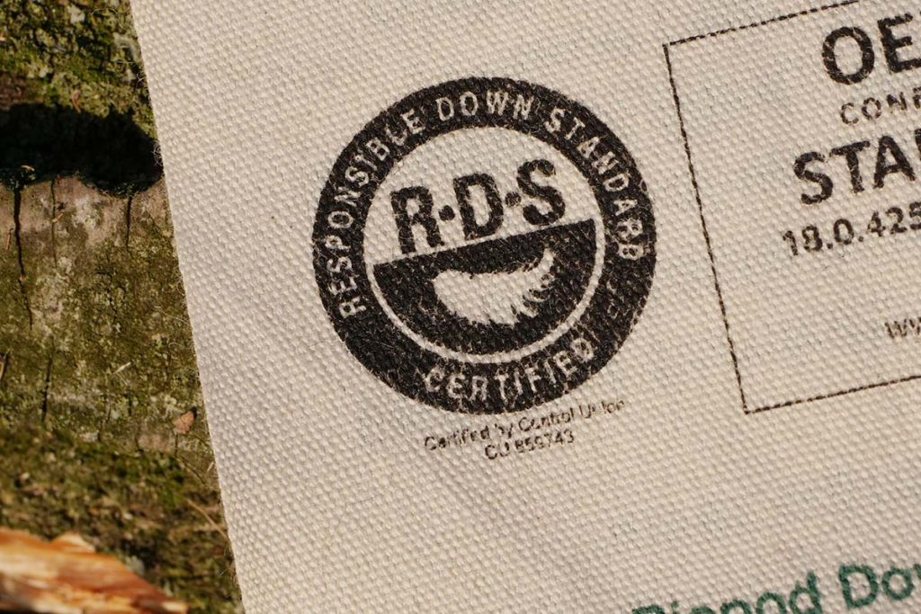 The down Grüezi uses is RDS certified: no live picking or forced feeding.