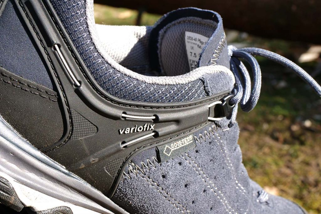 The Variofix system of the Meindl Ontario GTX ensures excellent heel fixation.