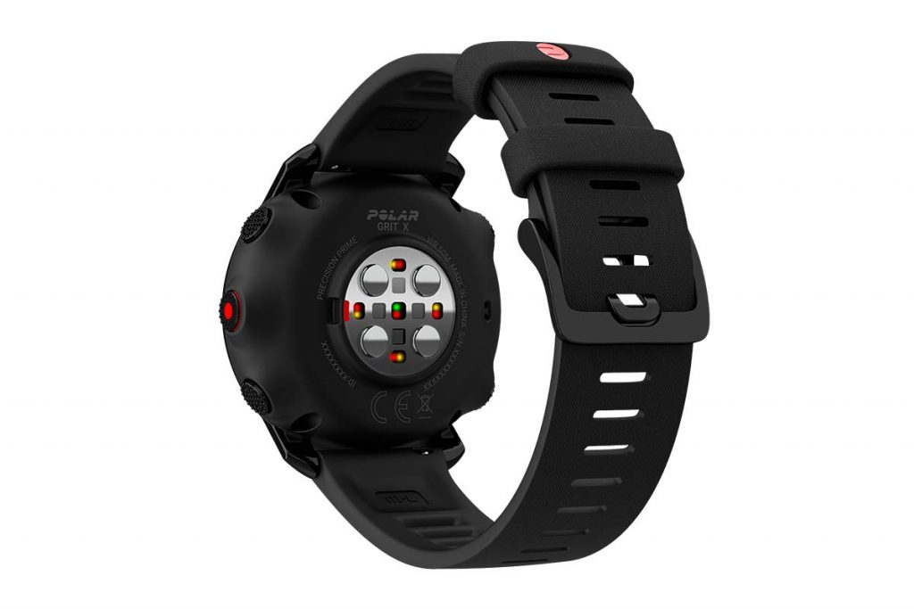 The Polar Grid X has a optical heart rate sensor.