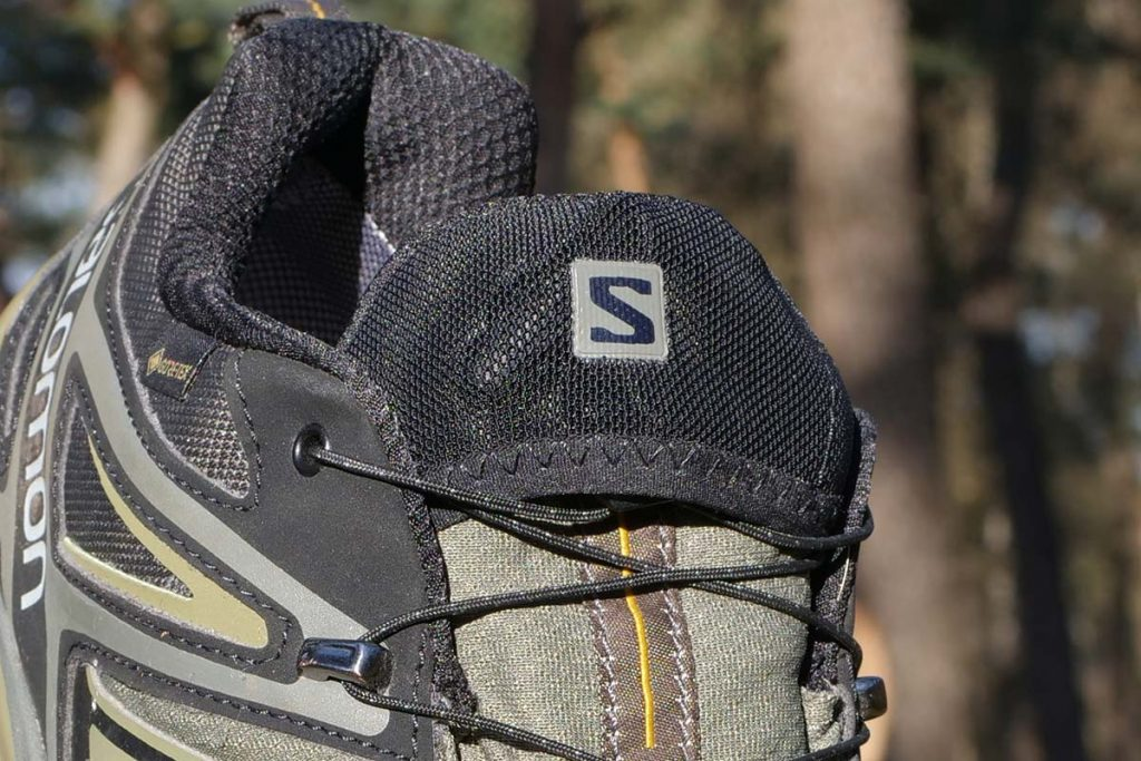 The Quicklace system has a garage on the tongue of the Salomon X Ultra 3 GTX.