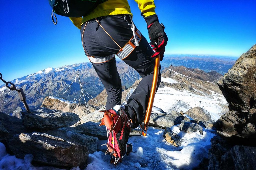 The Ribelle SHD is a crampon friendly fast mountaineering shoe.