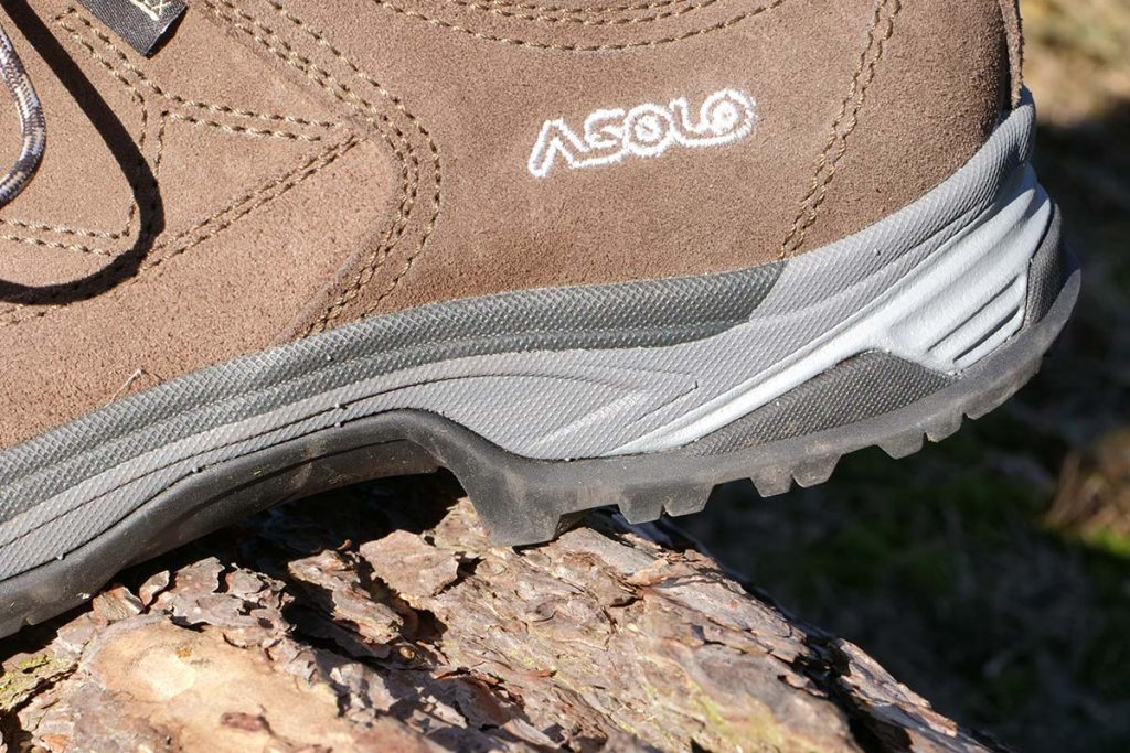 The Asolo Falcon Low LTH GV heel as a very good brake for descending.