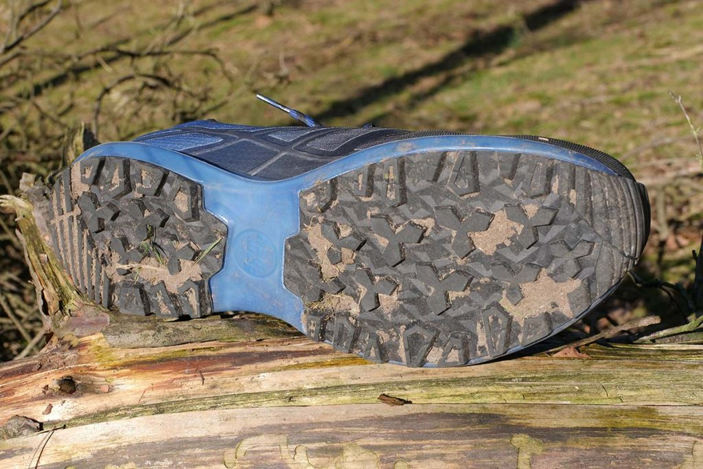 The Hanwag TubeTec sole construction is very stiff and the lugs offer good grip.