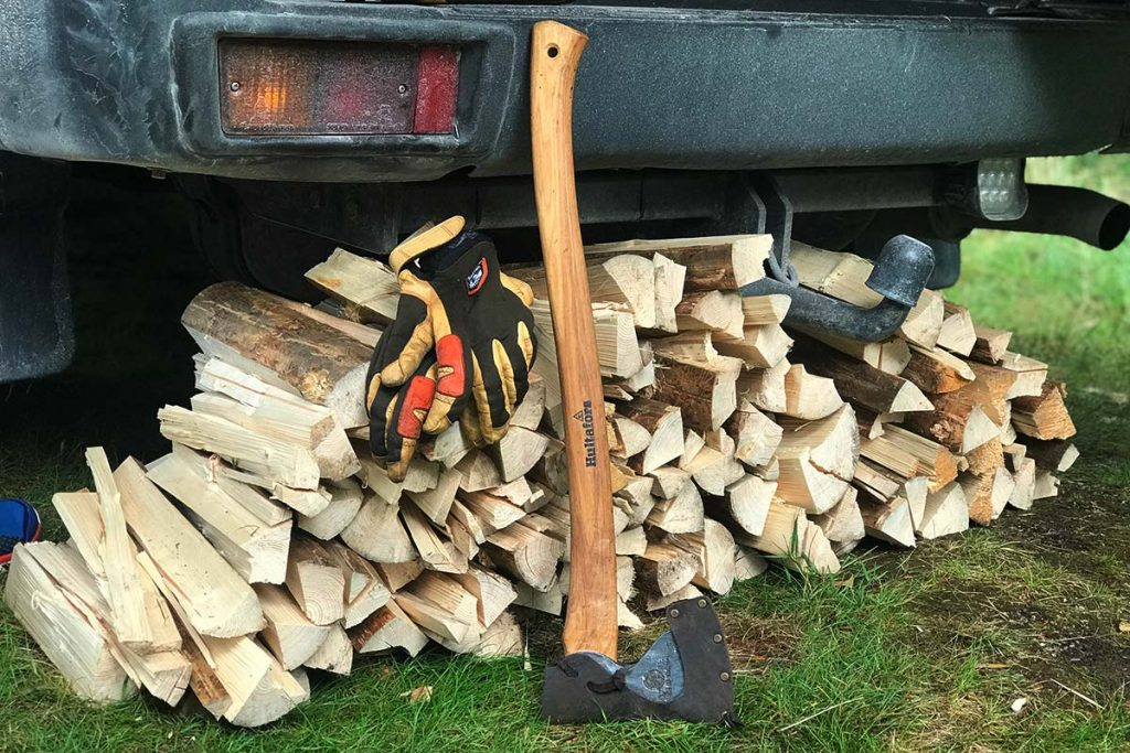 In Sweden wood is every where and this its what I use for a campfire.
