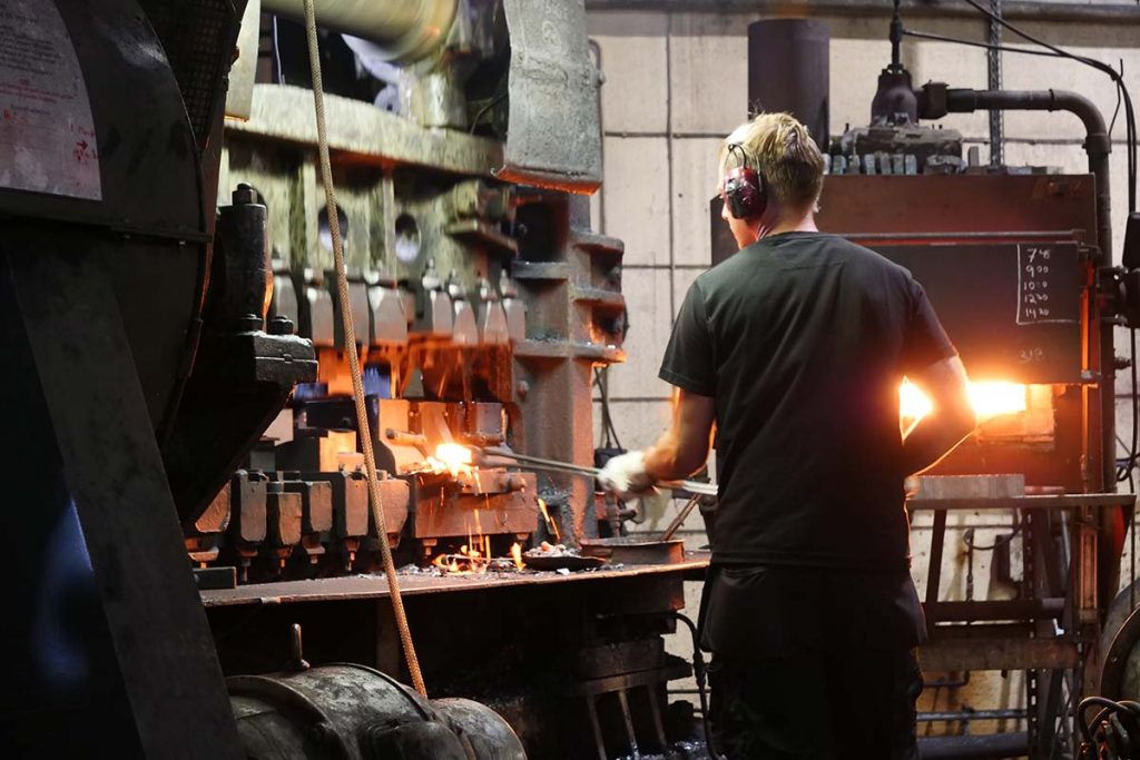 If you ever have the chance: visit a working commercial forge!