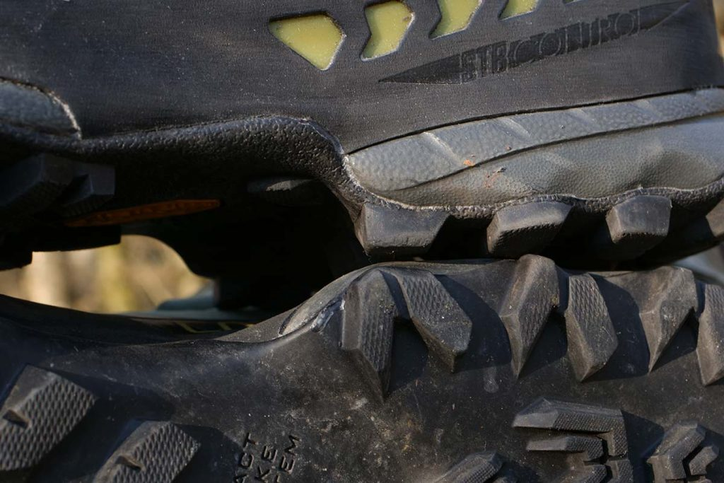 The heel of the La Sportiva TX5 Low GTX has a very pronounced brake.