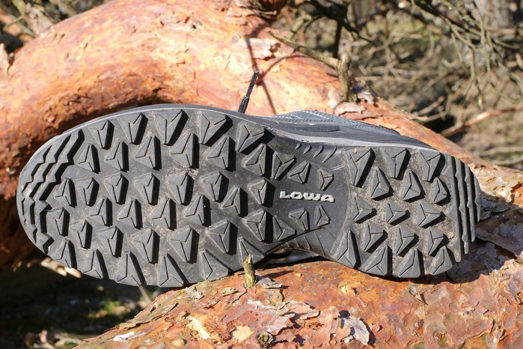 The Lowa Multi Trac II outsole is coarse and provides good grip.