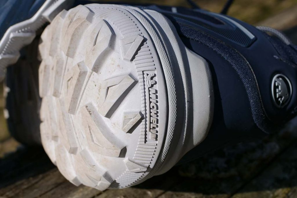 The Michelin Trail Cleat sole has a decent protective edge all around the shoe.