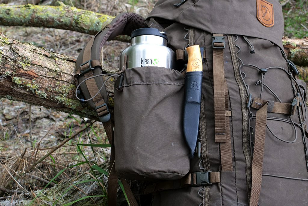 The Klean Kanteen Insulated TK Wide 64oz doesn't fit in every backpacks bottle holder.