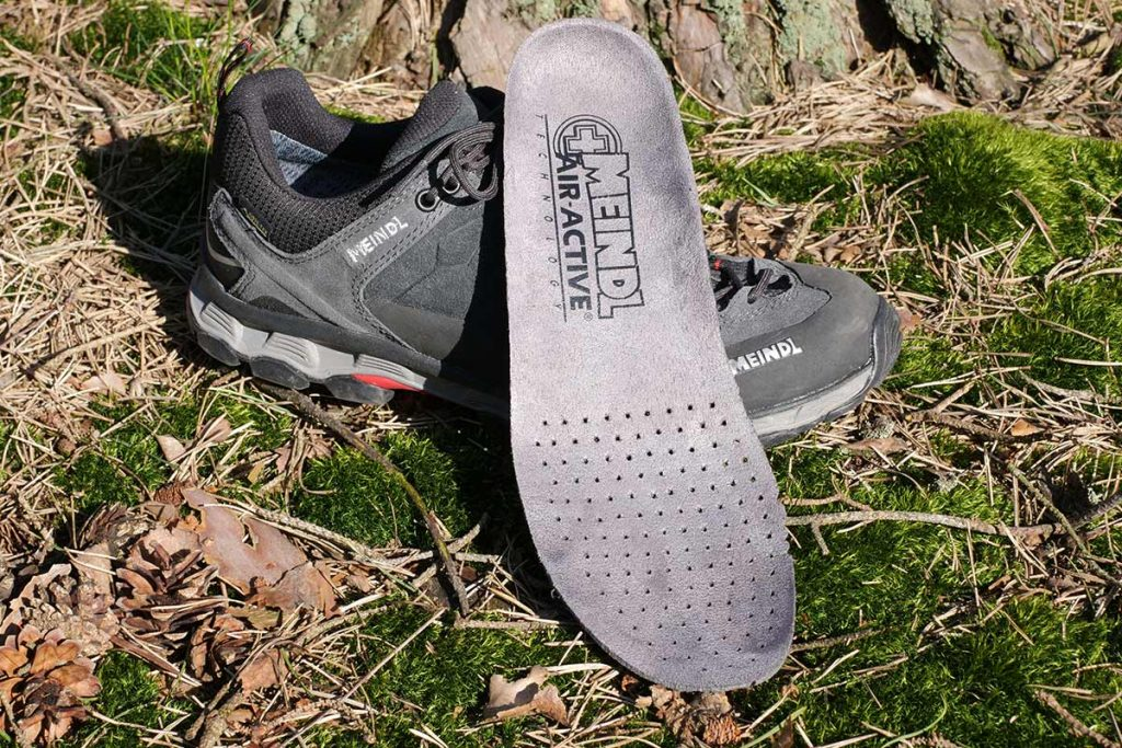 The Meindl Lite Trail GTX has a perforated insole.